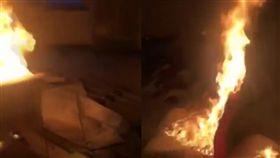影/朋友借36萬死不還 失控女「放火燒客廳」:都是你逼的(圖/翻攝自梨視頻)