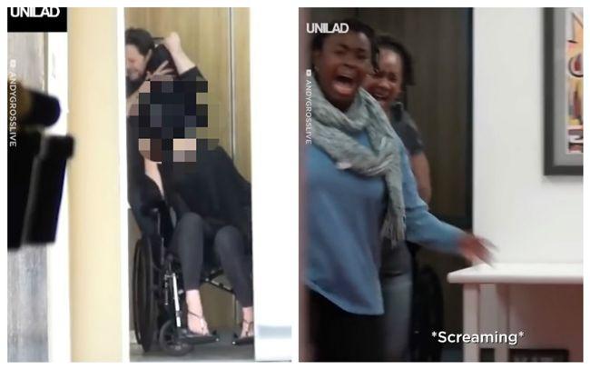 恐怖曝光!狠男2手扭斷輪椅女頭 電梯乘客嚇瘋尖叫竄逃