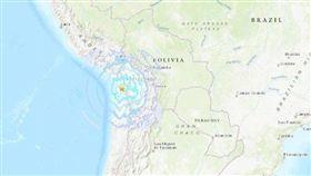 智利6.2地震。(圖/USGS)
