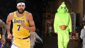 超堅持!麥基全套「鬼靈精」裝扮受訪 NBA,洛杉磯湖人,JaVale McGee,萬聖節,鬼靈精 翻攝自推特
