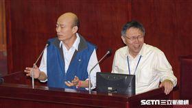 台北市議會總質詢,台北農產運銷公司總經理韓國瑜 圖/記者林敬旻攝