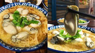 新竹傳統市場爆紅 麵線擺滿超大鮮蚵