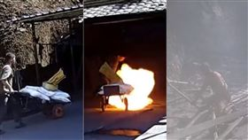 煙火,爆炸,輪胎,橡膠,靜電,灼傷,坍塌,警消,工廠,大陸,湖南 圖/翻攝自LiveLeak https://goo.gl/C7ctth