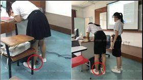 泰國一間大學日前爆出有狼師偷拍女學生裙底,被學生發現後站出來指控,老師在講台旁邊的地板放置一台平板電腦,並要求學生一個一個到前面講台簽到,穿著短裙的女同學只要一靠近講台,裙底下的風光就會立刻被平板電腦捕捉到,因此就有女學生認為,老師這個做法應該已有不少同學受害。(圖/翻攝自Khaosod)