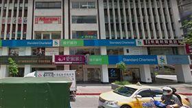 東區渣打銀行撤離。(圖/翻攝自GoogleMap)