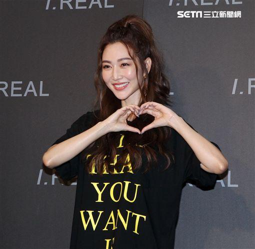 女神曾菀婷自品牌I.REAL搶進服飾業。(記者邱榮吉/攝影)
