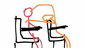 女大生手繪課堂上小情侶放閃行為。(圖/翻攝自《Dcard》)