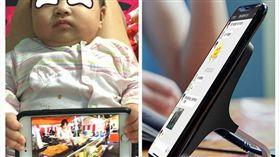 爸爸自製超狂「手機架」。(圖/翻攝自臉書社團「爆廢公社」)
