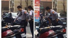 網友爆料警察毆打遊民。(圖/翻攝自臉書)