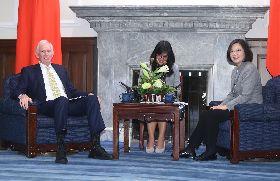 總統接見AIT主席莫健 盼續與美攜手