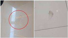 菲律賓,鬧鬼,腳印,百貨公司,地板(圖/翻攝自Leslie Dacion臉書)