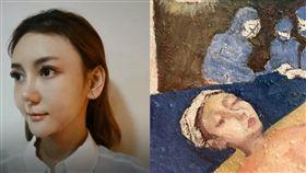 劉喬安鼻子手術後繪製一幅手術示意圖畫感謝李進良。(圖/翻攝自劉依函臉書)