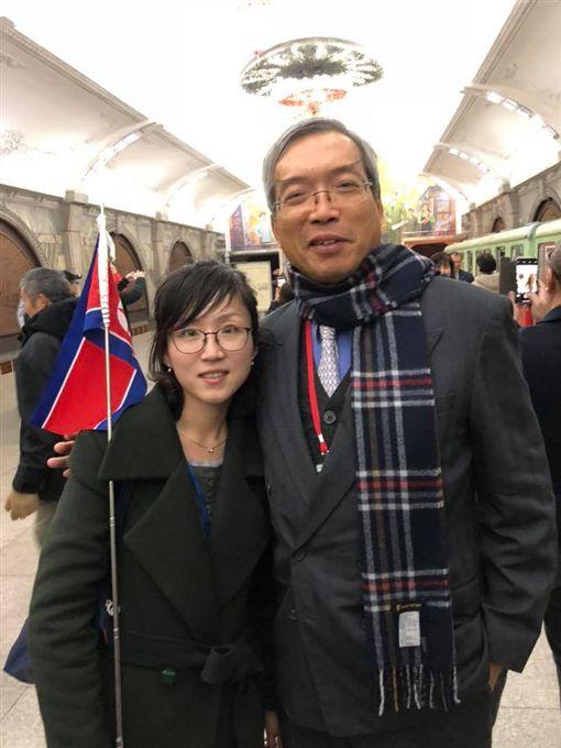 北韓,朝鮮,謝金河,導遊,金正恩(圖/翻攝自謝金河臉書)