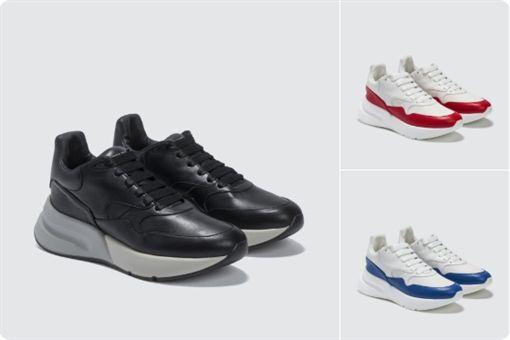 ▲Alexander McQueen推出的球鞋神似Nike的Air Max 1鞋款。(圖/翻攝自Alexander McQueen推特)