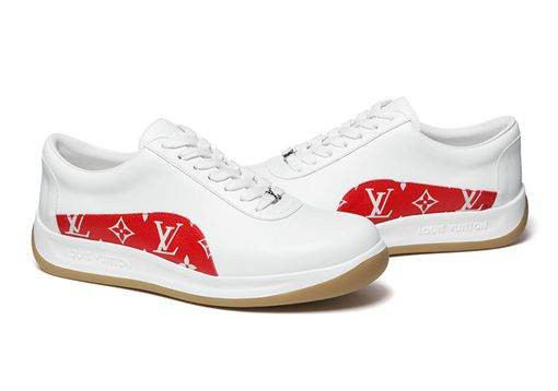 ▲LV和Supreme聯名推出的球鞋。(圖/翻攝自onlinedelux網站)
