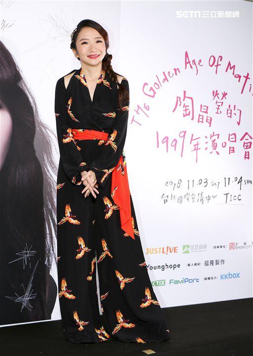 陶晶瑩「陶晶瑩的1999年演唱會」。(記者林士傑/攝影)