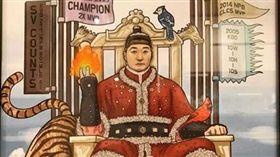 ▲吳昇桓在IG分享朋友送給他的圖畫。(圖/取自吳昇桓IG)