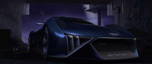 Audi為動畫電影設計Audi RSQ e-tron概念車。(圖/Audi提供)