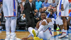 雷霆威少翻船傷退 最新醫療報告出爐 NBA,奧克拉荷馬雷霆,Russell Westbrook,受傷,翻船 翻攝自推特