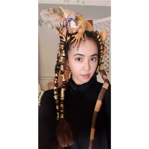 蔡依林,蜥蜴,新造型(圖/翻攝自jolin_cai Instagram)
