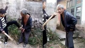 (圖/翻攝自微博)中國,毆打,老人,智能障礙,未成年