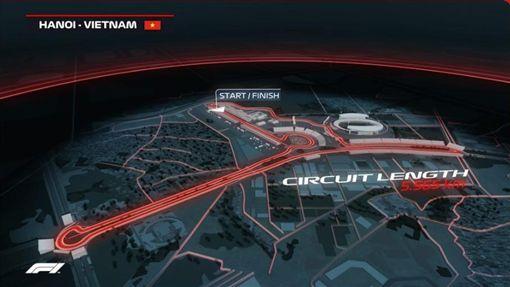 ▲F1越南河內站跑道設計圖。(圖/翻攝自F1官網)