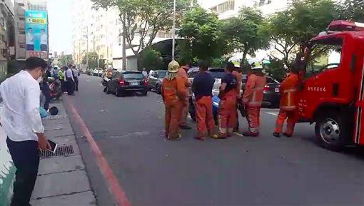 新竹,車禍,台大,受困,消防隊