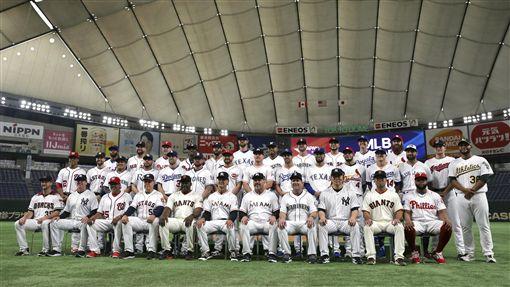 ▲美直明星隊由29位大聯盟球星組成。(圖/美聯社/達志影像)