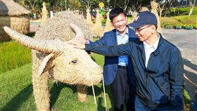 游錫堃參訪花博(圖/台中市政府提供)