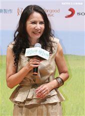 「種菜女神」首映發布會演員林美照。(記者林士傑/攝影)