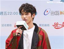 「種菜女神」首映發布會男主角劉以豪。(記者林士傑/攝影)