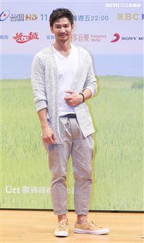 「種菜女神」首映發布會演員鄒承恩。(記者林士傑/攝影)