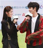 「種菜女神」首映發布會男女主角劉以豪、李千娜。(記者林士傑/攝影)