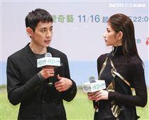 「種菜女神」首映發布會男女主角徐鈞浩、李千娜。(記者林士傑/攝影)