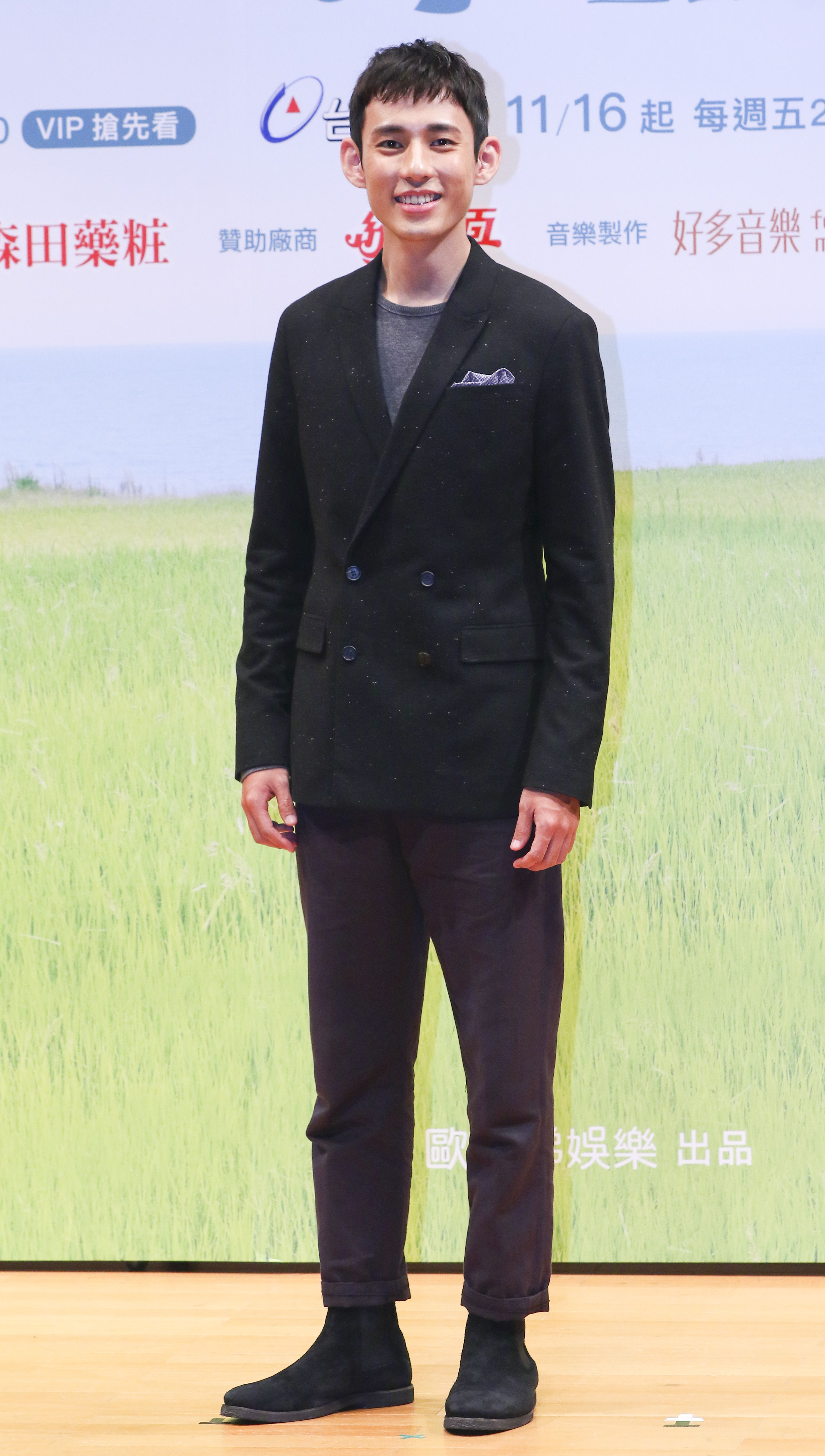 「種菜女神」首映發布會男主角徐鈞浩。(記者林士傑/攝影)