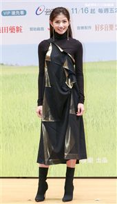 「種菜女神」首映發布會女主角李千娜。(記者林士傑/攝影)