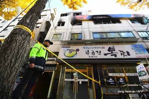 首爾隔間公寓驚傳火警釀7死11傷(圖/翻攝自推特)