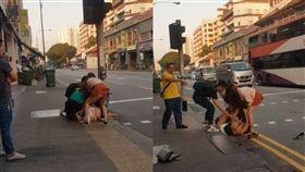 新加坡,越南,打架,暴露,下體(圖/翻攝自Singapore Peasant 臉書)