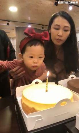 生日,蠟燭,阿公,變臉(圖/搗蛋鬼芙芙授權提供)