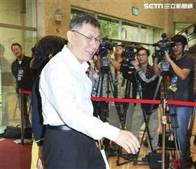 2018台北市長公辦辯論會候選人柯文哲。(記者林士傑/攝影)