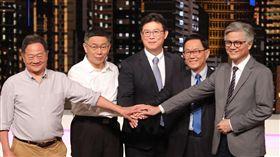 2018台北市長公辦辯論會左起李錫錕、柯文哲、姚文智、丁守中、吳蕚洋。(圖/公視提供)