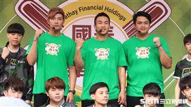 旅外投手王維中、曾仁和、宋文華出席棒球嘉年華活動。(圖/記者王怡翔攝影)