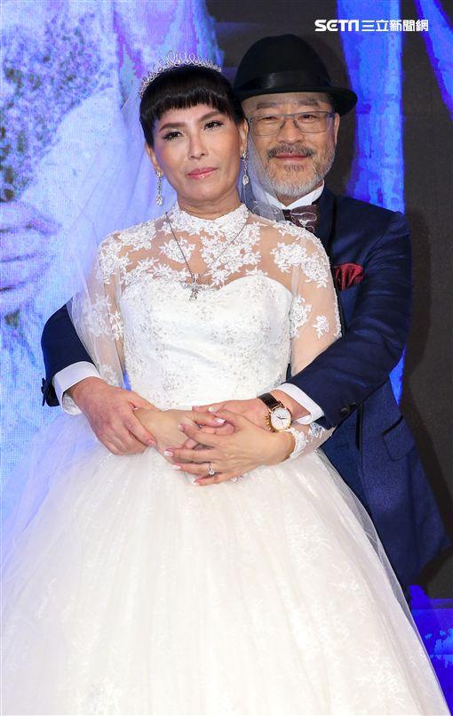 班鐵翔及老婆Celine圖/記者林士傑攝影