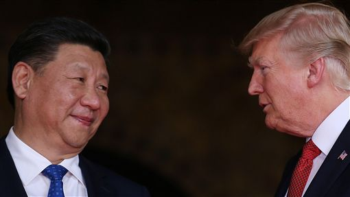美國總統川普、中國國家主席習近平、川習會(圖/路透社/達志影像)