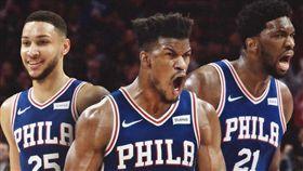 費城奪冠賠率升!巴特勒最快週四首秀 NBA,費城七六人,Jimmy Butler,奪冠,賠率 翻攝自推特Bleacher Report