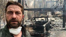「300壯士」傑瑞德巴特勒(Gerard Butler)加州豪宅被燒光 圖/翻攝自IG