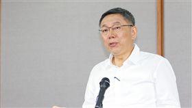 2018台北市長公辦辯論會記者會柯文哲。(記者林士傑/攝影)