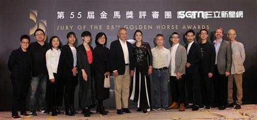 李安、鞏俐領軍的第55屆金馬獎評審團。(記者邱榮吉/攝影)
