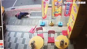 台北市康定路死亡車禍監視器畫面曝光(翻攝畫面)