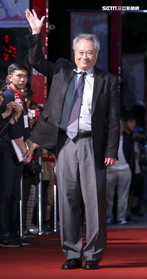金馬入圍電影「誰先愛上他的」導演李安蒞臨現場為劇組打氣加油。(記者林士傑/攝影)